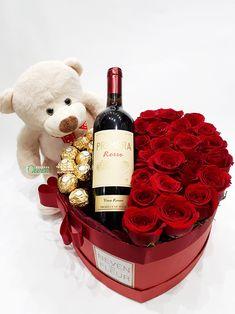 Valentines Balloons, Valentines Flowers, Valentine Crafts, Food Bouquet, Gift Bouquet, Diy Birthday, Birthday Gifts, Valentine Flower Arrangements, Romantic Date Night Ideas
