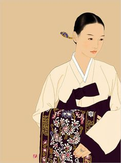 Find images and videos about korea, painting and hanbok on We Heart It - the app to get lost in what you love. Art And Illustration, Korean Illustration, Korean Traditional Dress, Traditional Dresses, Traditional Art, Korean Art, Cute Korean, Asian Art, Korean Image