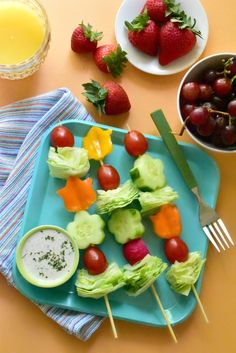 Salad on a stick: A fun way to serve the kiddos their daily serving of veggies!