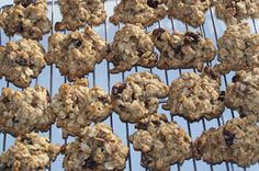 Clean oatmeal raisin cookies from The Best of Clean Eating cookbook (which is awesome!!).  Mix it up by adding craisins or other dried fruit instead.  This is a staple at our house!