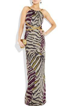 EMILIO PUCCI Zebra-print jersey gown $2,450