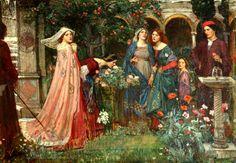 The Enchanted Garden by John William Waterhouse, 1916