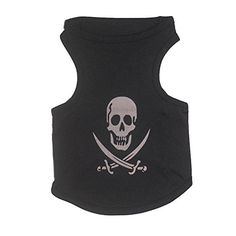 PQ Estore Pet Apparel Costume Summer Shirt for Small Dog and Cat Killer Black Medium -- See this great product.