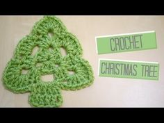 CROCHET: Christmas Tree   Bella Coco - YouTube - Used F hook