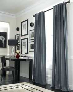 Gray And Beige Curtains Curtain Ideas For Large Windows With Lovely Grey Color And Corner Dark Desk Gray Curtains Beige Walls | laughingredhead.me