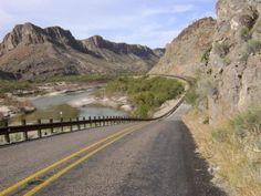 FM 170 - the River Road - along the Rio Grande. Big Bend State Park, TX.