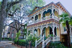 The Gingerbread House, 1899, Steamboat Gothic House, 1821 Bull St., Savannah, Georgia