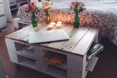 Industrial Pallet Coffee Table Shabby Chic Vintage Tv Stand Reclaimed Upcycled