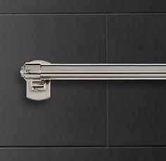 "Master Bath; Campaign 18"" Towel Bar in polished chrome; $75 (2)"