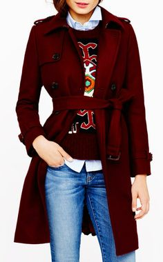 WOOL-CASHMERE TRENCH COAT