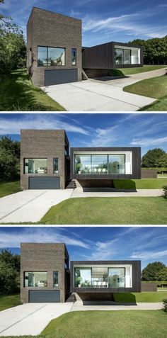 Auskragendes Bauteil lässt dieses Haus schwebend aussehen