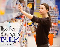 Buying in bulk can definitely help you save money, but if not done right you could end up wasting a lot of food. Here are some great tips to read for when you buy in bulk.