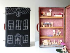 On the Go:  Upcycled Suitcase Dollhouse   My Poppet