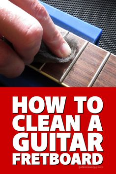 A step-by-step tutorial on how to clean a really filthy guitar fretboard. I go beyond basics and break out the big guns to restore a disgusting rosewood fretboard to its former glory. Guitar Diy, Guitar Shop, Guitar Songs, Easy Guitar, Guitar Chord Chart, Guitar Tabs, Guitar Chords, Ukulele, Guitar Fender