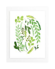 Leaves of Green Wall Art Prints by Katie Vander Velde   Minted
