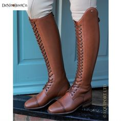 De Niro Lace Up Riding Boots