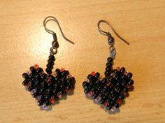 Stitched heart   Beads, tutorials, inspiration