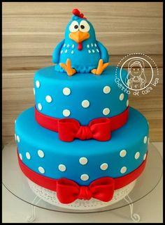 Bolo Galinha Pintadinha Beautiful Wedding Cakes, Beautiful Cakes, Amazing Cakes, 3d Cakes, Fondant Cakes, Baby Cakes, Cute Cakes, Yummy Cakes, Bolo Fack
