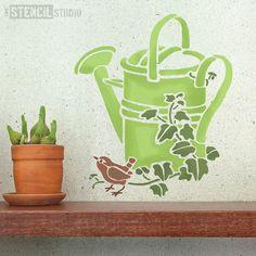 Watering Can stencil from The Stencil Studio Ltd - Size S