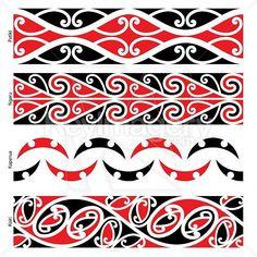 Maori Border Designs (Patiki, Ngaru, Kaperua, Koiri) Illustration by MikeWalen Dot Painting, Painting Patterns, Maori Patterns, Maori People, Polynesian Art, New Zealand Art, Maori Tattoo Designs, Wood Carving Designs, Maori Art
