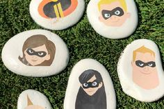 Disney Rock Painting Ideas: Incredibles 2