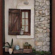 Image may contain: plant and indoor Cottage Windows, Old Cottage, Ture Love, Miniatures, Indoor, Flowers, Porch, How To Make, Plant