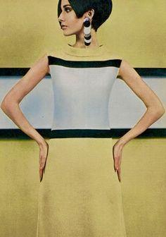 Rodier 1965 60s Mod Fashion, 1960s Fashion Women, 60 Fashion, Fashion History, Vintage Fashion, Womens Fashion, Fashion Design, Lanvin, Style Année 60