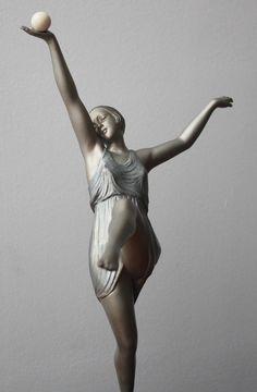An Art Deco French bronze figure by Pierre Laurel, circa 1925.