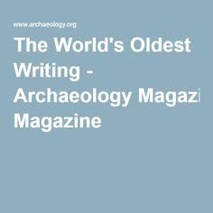 Archaeology e writing com