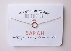"10 Awesome Ways To ""Pop"" The Question To Your Bridesmaids @sturquoiseblog Image + Item courtesy of: Petal & Paperie via Etsy"