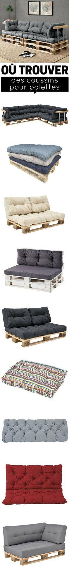 Où trouver des coussins pour palettes ? Des coussins adaptés et aux bonnes dimensions pour les canapés en palettes et les salons de jardin en palettes. http://www.homelisty.com/coussin-pour-palette/