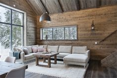 A chalet in the mountains in Sweden - Cabin Decor Chalet Interior, Interior Exterior, Interior Design, Cabin Interiors, Rustic Interiors, Chalet Design, House Design, Modern Cabin Decor, Plan Chalet
