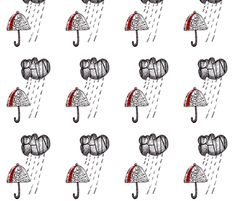 umbrella fabric by shy_bunny on Spoonflower - custom fabric