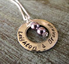 Personalized Mother's Necklace Twins or by designsbydawnrenee