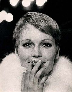 Mia Farrow 1960's pixie cut---not all of us looked that great in our Pixie cuts!