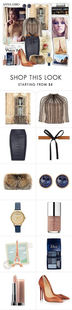 """""""""""Don't cry because it's over, smile because it happened."""""""" by annagiro ❤ liked on Polyvore featuring Shabby Chic, Temperley London, By Malene Birger, Maison Margiela, Alexander McQueen, Susan Caplan Vintage, Olivia Burton, Nails Inc., Christian Dior and Maybelline"""