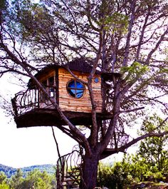 The Witch House Ibiza Spain  A man on an island off the Spanish mainland hired Nelson to build this fairytale treehouse for his supremely lucky young son, Daniel. An Aleppo pine hosts the magical creation.