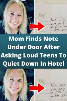 #Mom Finds Note Under #Door After Asking #Loud Teens To #Quiet Down In #Hotel