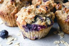 These blueberry oatmeal muffins are the perfect grab and go breakfast. Filled with whole grains, oats, and blueberries they will keep you full and focused!