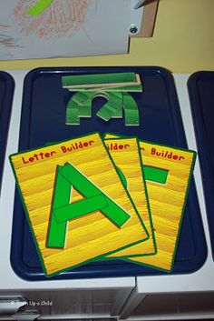 Great Way to use Handwriting without tears letter templates for independent play!