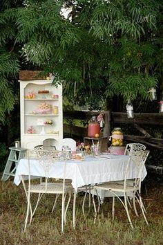 outdoors tea party: outdoors tea party