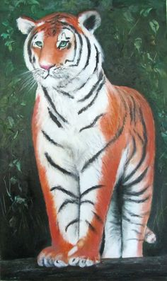 Tiger! - oil on canvas board by Sasha Taylor, Art-Seekers.com