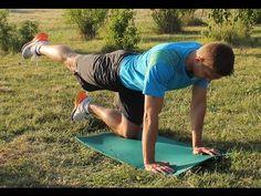posilování zádových svalů - cviky s vlastním tělem - YouTube