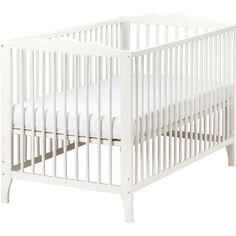 IKEA HENSVIK Crib, white ($99) ❤ liked on Polyvore featuring home, children's room, children's furniture, nursery furniture, baby, crib, ikea and nursery