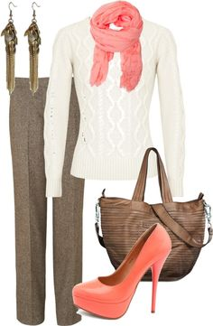 """""""fall work outfit"""" by bradierenee ❤ liked on Polyvore"""