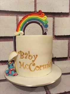 Rainbow Dash Baby Shower Cake