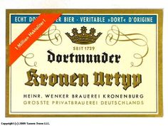 Sell Your Stuff, Beer Labels, Brewery, Vintage, Crowns, Dortmund, Vintage Comics