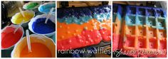 rainbow waffles!