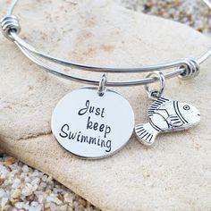 Bangle - Bracelet - Disney - Jewelry - Finding Nemo - Hand Stamped - Disney Jewelry - Gift - Gift for her - Stamped Jewelry - Stainless
