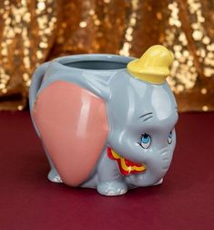 Dumbo: The World's Smallest Little Elephant Shaped Mug - Merchoid Enjoy a tasty cuppa with everyone's favourite adorable elephant with this Dumbo Shaped Mug. Shape and design of Dumbo's head Officially licensed Disney product Disney Dumbo, Cute Disney, Disney Dream, Disney Mickey, Walt Disney, Mickey Mouse, Disney Coffee Mugs, Disney Mugs, Funny Coffee Mugs